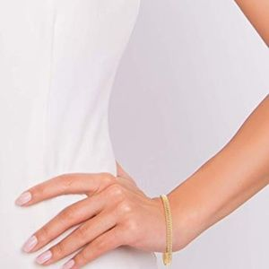 Jewelry - 18K Gold Over Mesh Link Chain Bracelet